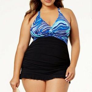 22W Profile by Gottex tummy-control Swim dress